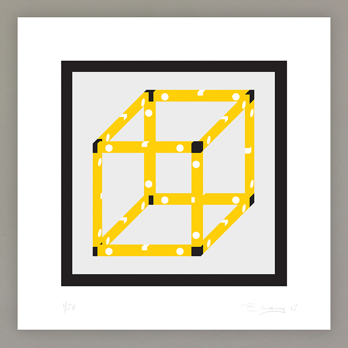 Ben Long Spirit Structure Single Cube Print 1