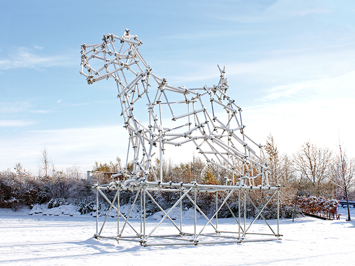 Ben Long Dog Scaffolding Sculpture web