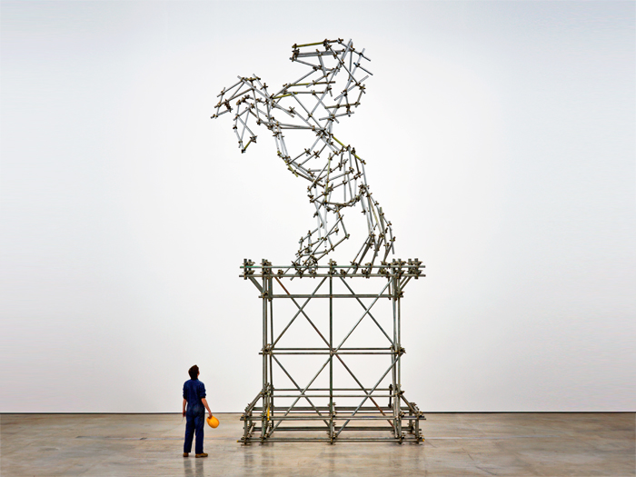 Ben Long Horse Scaffolding Sculpture VISUAL