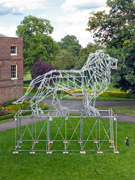 Ben_Long_Lion_Scaffolding_Sculpture