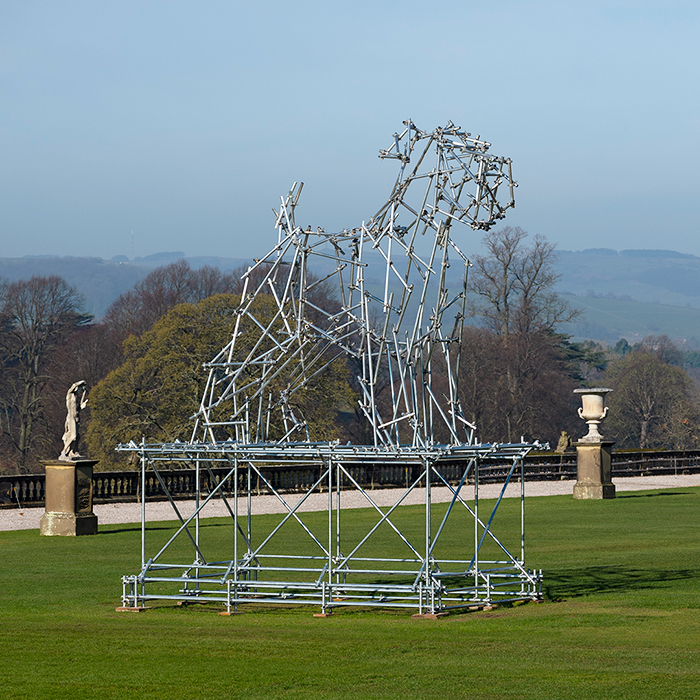 Ben Long Dog Scaffolding Sculpture