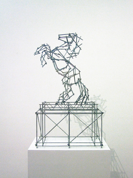 Ben_Long_Gimpel_Fils_Horse_Scaffolding_Sculpture_scale_model